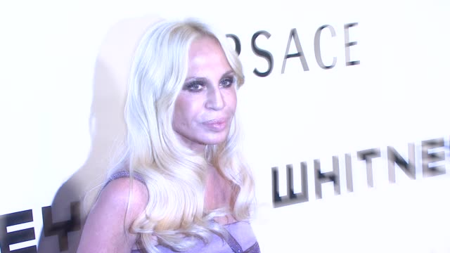 donatella versace at the the whitney museum of american art's gala and studio party at new york ny. - gala stock videos & royalty-free footage