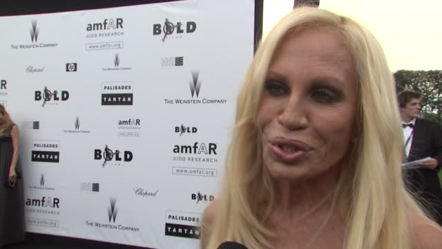 Donatella Versace on the change of location this year to the Hotel Du Cap at the Cannes Film Festival 2009 amfAR Red Carpet at Antibes