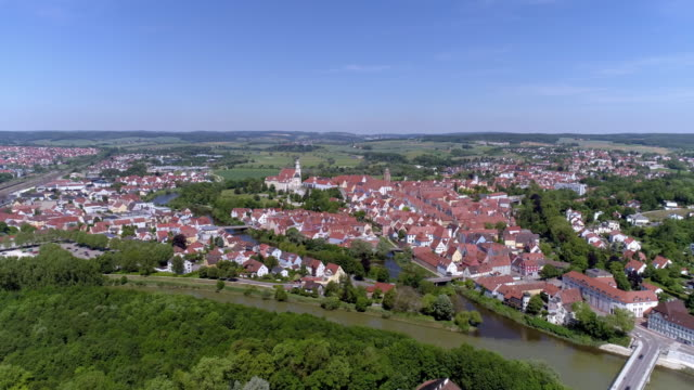 donauwörth and danube river in bavaria - romantic road germany stock videos and b-roll footage