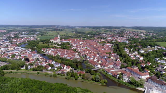 donauwörth and danube river - romantic road germany stock videos and b-roll footage