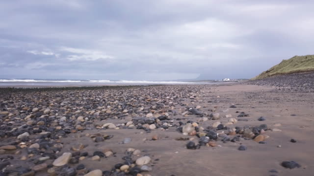 donegal beach on a stormy afternoon in ireland - ulster province stock videos & royalty-free footage