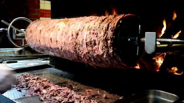 doner kebab in turkey - kebab stock videos and b-roll footage