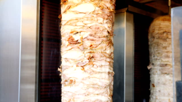 doner kebab shop in the christmas market,belfast,northern ireland - kebab stock videos and b-roll footage