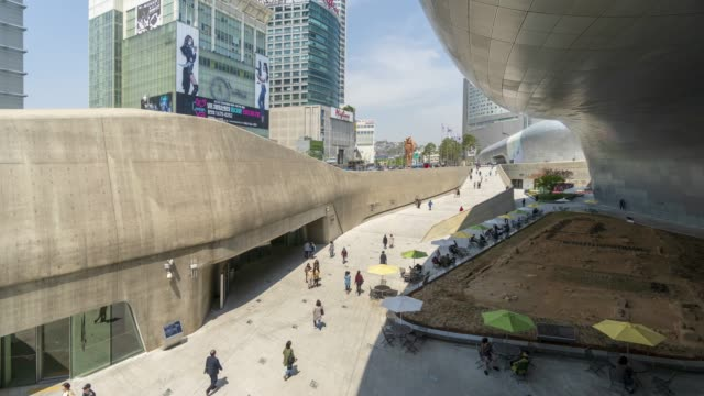 vídeos y material grabado en eventos de stock de dongdaemun design plaza time-lapse - representación teatral