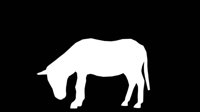 donkey eating silhouette (loopable) - donkey stock videos & royalty-free footage