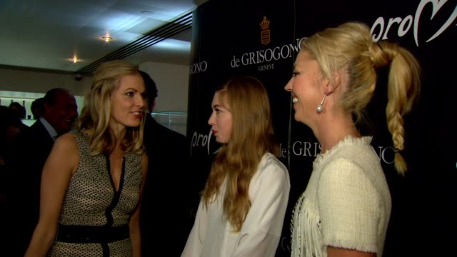 donna air anoushka beckwith and tamara beckwith at the promise de grisogono by cheryl cole launch party at london england - 2010 video stock e b–roll