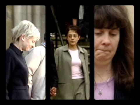 donna anthony freed by the court of appeal; graphicised seq split screen sally clark/ trupti patel and angela cannings angela cannings towards from... - clostridium perfringens stock videos & royalty-free footage