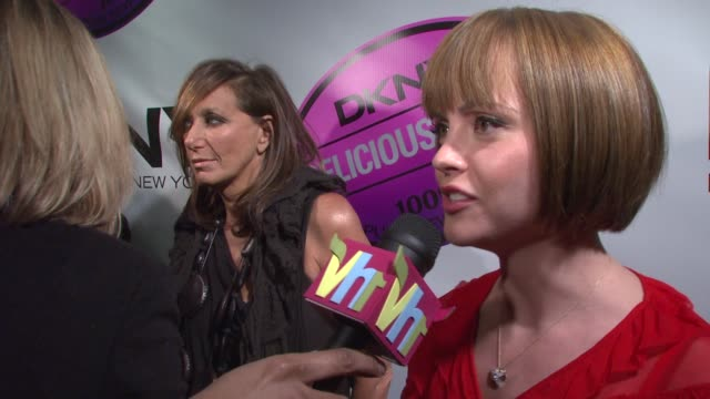 donna karan and christina ricci at the dkny delicious night fragrance launch party at 711 greenwich street in new york, new york on november 7, 2007. - christina ricci stock videos & royalty-free footage
