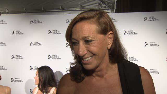 interview donna karan talks about the dedication from the novak djokovic at the novak djokovic foundation new york dinner at capitale on september 10... - dedication stock videos & royalty-free footage