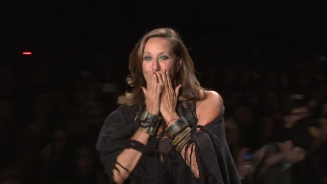 Donna Karan walks down the runway after the DKNY 2012 Resort Collection show during MercedesBenz Fashion Week at the American Express Brings Music To...