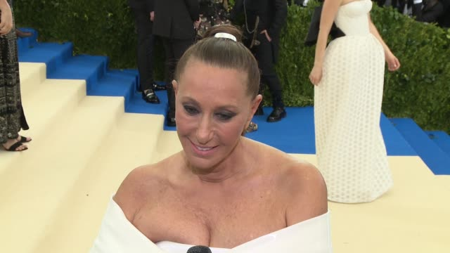 INTERVIEW Donna Karen on Anna Wintour at 'Rei Kawakubo/Comme des Garcons Art Of The InBetween' Costume Institute Gala Arrivals at The Metropolitan...