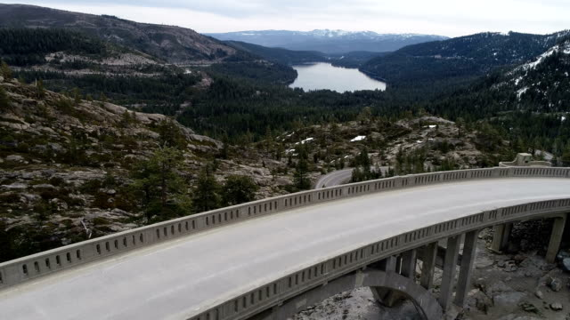 donner pass california mountains - californian sierra nevada stock videos & royalty-free footage