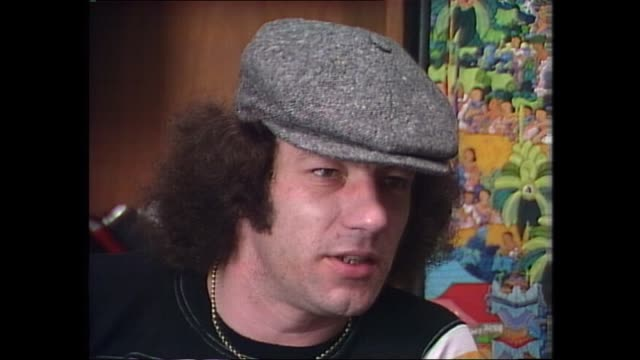 donnie sutherland brian johnson from acdc johnson said at first he didn''t think acdc were as big as they were he soon realised how big the shoes... - rock group stock videos & royalty-free footage