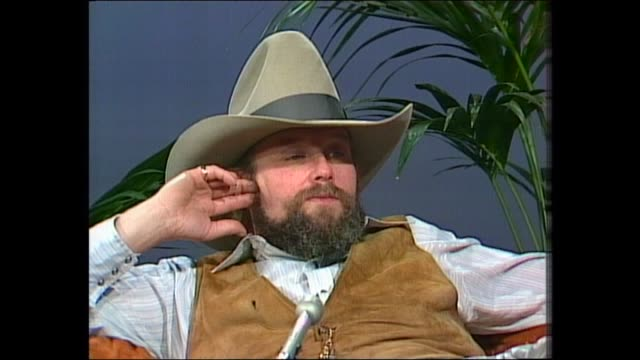 donnie sutherland - charlie daniels - country & bluegrass musician - daniels says he has been on the road since he was 10 - charlie talks about... - country and western stock videos & royalty-free footage