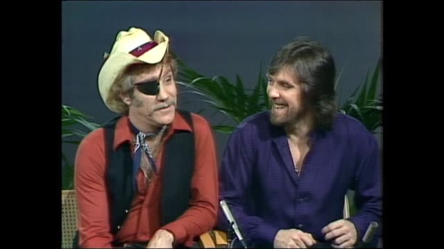 donnie sutherland - dr hook - ray sawyer & denis locorriere, sutherland - asked where did the name come from, they said, 'peter pan' - talked about... - pop music stock videos & royalty-free footage