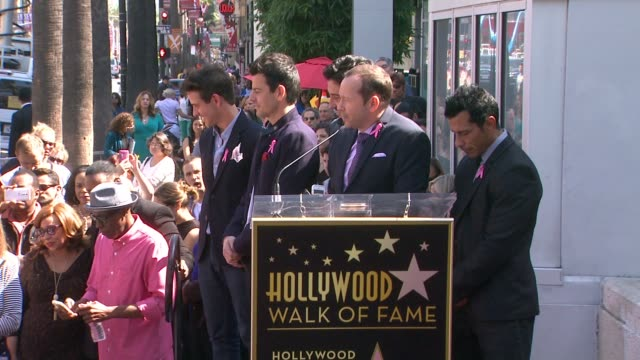 SPEECH Donnie Wahlberg at New Kids On The Block honored with star on the Hollywood Walk of Fame in Hollywood CA on