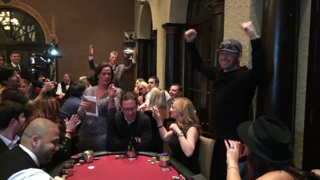 donnie wahlberg at the generation rescue celebrity poker tournament on march 9, 2019 in st. charles, illinois. - ジェニー・マッカーシー点の映像素材/bロール