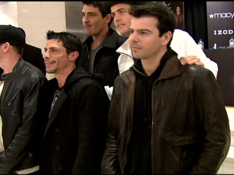 Donnie Wahlberg Danny Wood Jonathan Knight Joey McIntyre and Jordan Knight at the IZOD Macy's Presents New Kids On The Block at Macy's in New York...