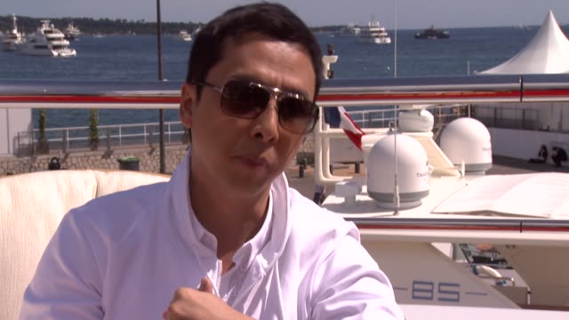 donnie yen on being his harshest critic at the wu xia interviews - 64th cannes film festival at cannes . - critic stock videos & royalty-free footage