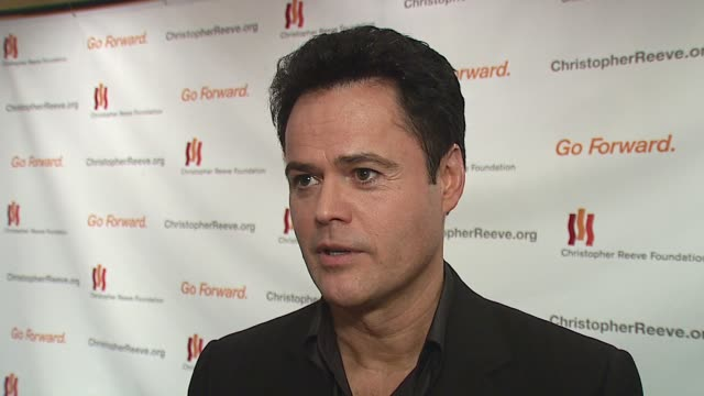 Donny Osmond/ Actor Singer Mr Osmond talks about performing tonight and how he got involved with this foundation He discusses his brothers and their...
