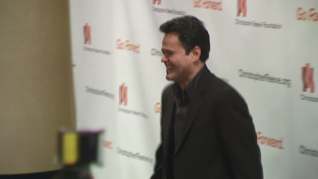 donny osmond at the christopher reeve foundation celebration of the strength and courage of christopher and dana reeve with a magical evening at... - christopher and dana reeve foundation stock videos and b-roll footage