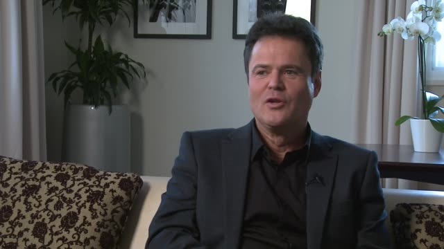 Donny Osmond on enjoying being who he is not being happy with his name at one point in his life at Donny and Marie Osmond interviews on November 05...