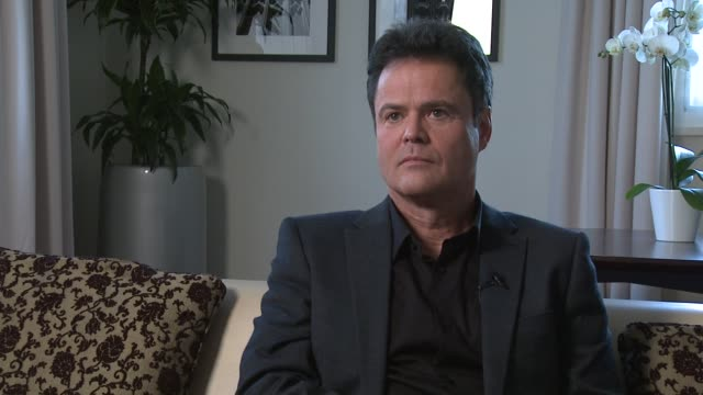 Donny Osmond on if he would wear a meat thong at Donny and Marie Osmond interviews on November 05 2012 in London England