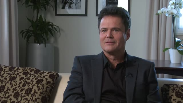 Donny Osmond on the US Election the importance of this election voting already at Donny and Marie Osmond interviews on November 05 2012 in London...