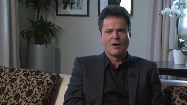 Donny Osmond on what band would be similar to the Osmonds at Donny and Marie Osmond interviews on November 05 2012 in London England