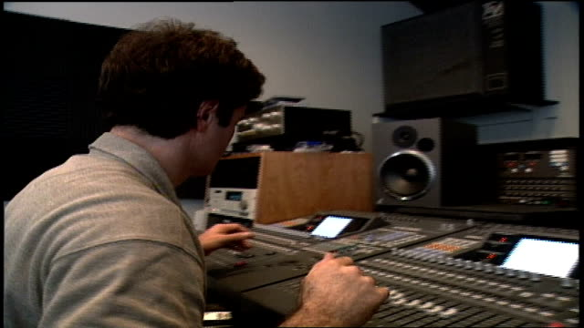 Donny Osmond Working at a Sound Board in Los Angeles California