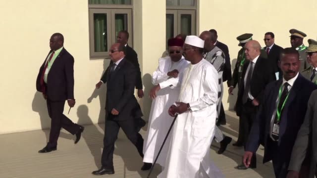 donors and leaders of the g5 sahel group gather for a conference in nouakchott mauritania - nouakchott stock videos & royalty-free footage
