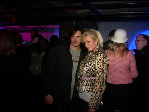 Donovan Leitch and Paris Hilton at the Motorola's 2nd Annual Late Night Lounge at Motorola Lodge in Park City Utah on January 23 2005