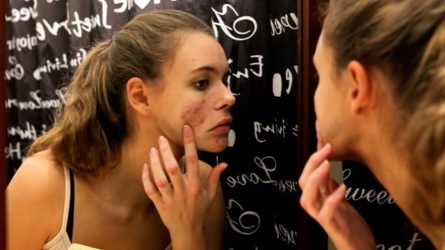 i don't like what i see in the mirror - human skin stock videos & royalty-free footage
