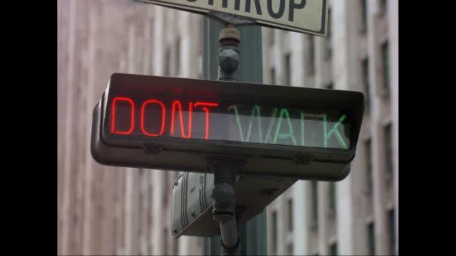 cu don't walk signal / united states - walk don't walk signal stock videos and b-roll footage