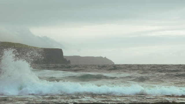 Doolin Coastline And Cliffs Of Moher At Gale Wind