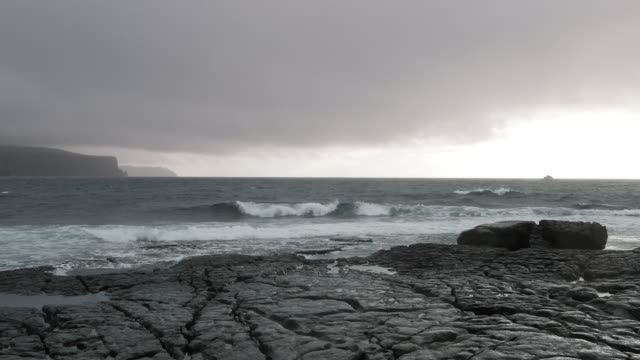 Doolin Coastline And Cliffs Of Moher In Stormy Weather