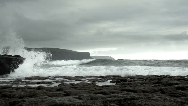 doolin coastline and cliffs of moher - doolin stock videos & royalty-free footage