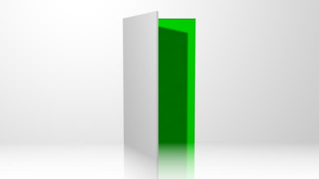door 01 white open with chroma green transition - doorway stock videos & royalty-free footage