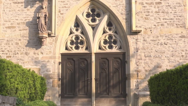 door at the augustinian church - martin luther religious leader stock videos & royalty-free footage