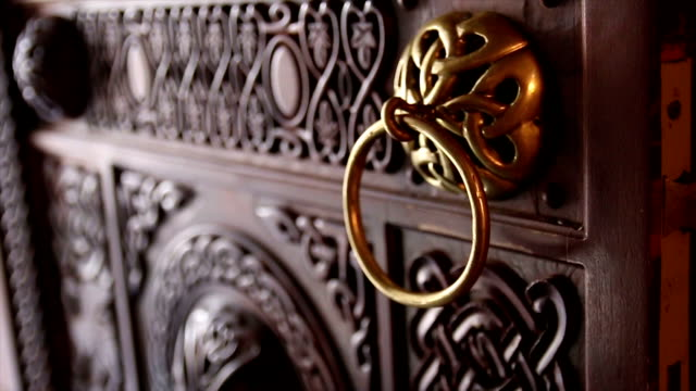 door handle - gothic style stock videos & royalty-free footage