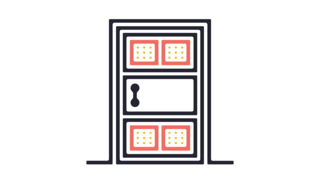 door icon animation - white doorway stock videos & royalty-free footage