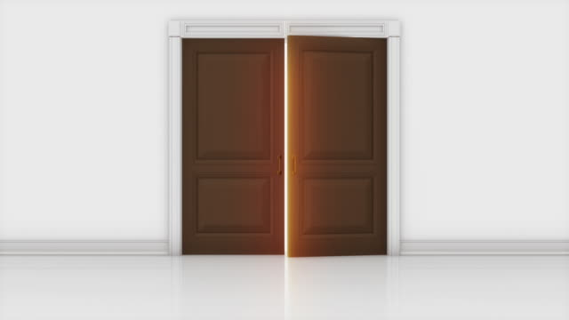 door opening animation - doorway stock videos & royalty-free footage