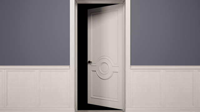 door opening loopable video animation - doorway stock videos & royalty-free footage
