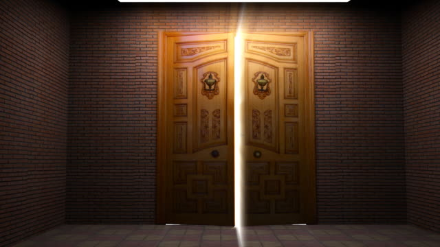 door opening through lights - door stock videos & royalty-free footage