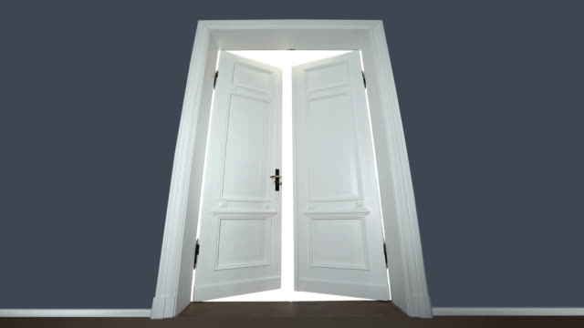 door opening to enlightenment - doorway stock videos & royalty-free footage