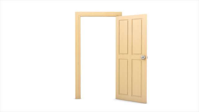 vidéos et rushes de ouverture de porte - porte structure créée par l'homme
