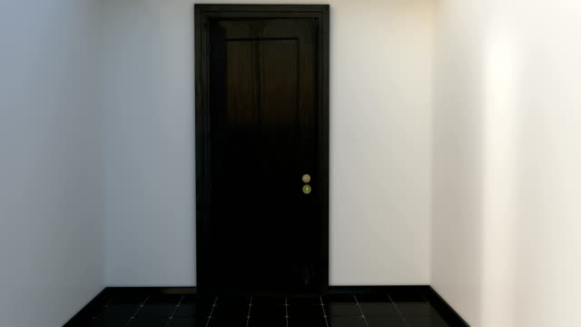 vídeos de stock e filmes b-roll de door opening with alpha channel and green screen - portão