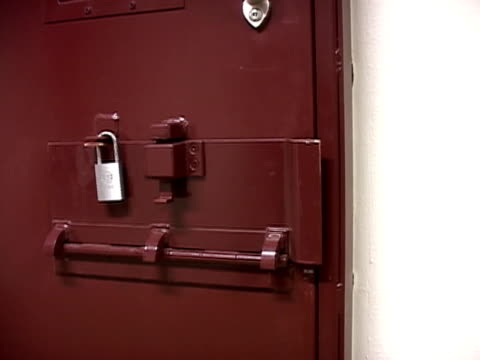 Door with padlock closing on prison cell at Guantanamo Bay detention center/ Guantanamo Province Cuba