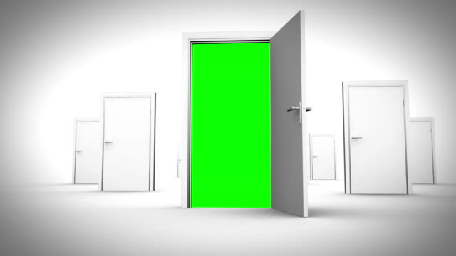 doors opening to reveal chroma key animation - opportunity stock videos & royalty-free footage