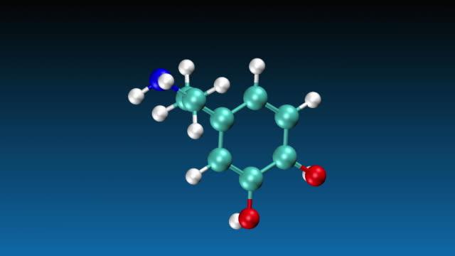 dopamine molecule - dopamine stock videos and b-roll footage